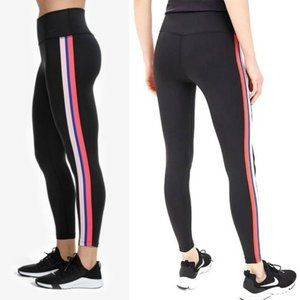 Nike black victory dri-fit pink stripe leggings L